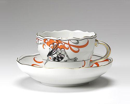 マイセン フェニックス(火の鳥) コーヒーカップ&ソーサー 200cc