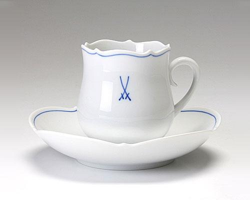 マイセン ホワイトマイセン(VIP) コーヒーカップ&ソーサー 150cc