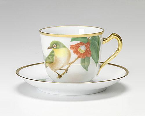 大倉陶園 野鳥シリーズ メジロ カップ&ソーサー