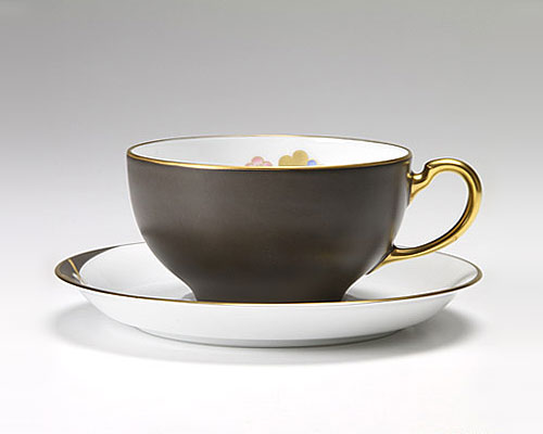 大倉陶園 碗皿ごよみ12ヶ月 香梅(如月) カップ&ソーサー
