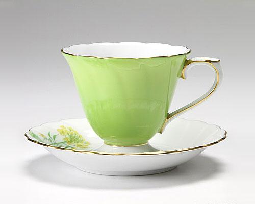 大倉陶園 碗皿ごよみ12ヶ月 菜の花(弥生) カップ&ソーサー