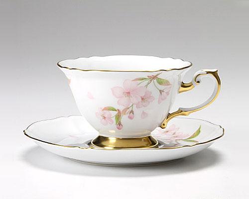大倉陶園 碗皿ごよみ12ヶ月 夜桜(卯月) カップ&ソーサー