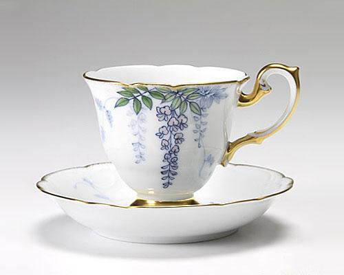 大倉陶園 碗皿ごよみ12ヶ月 藤(皐月) カップ&ソーサー