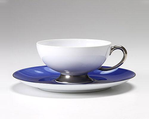 大倉陶園 碗皿ごよみ12ヶ月 雨(水無月) カップ&ソーサー