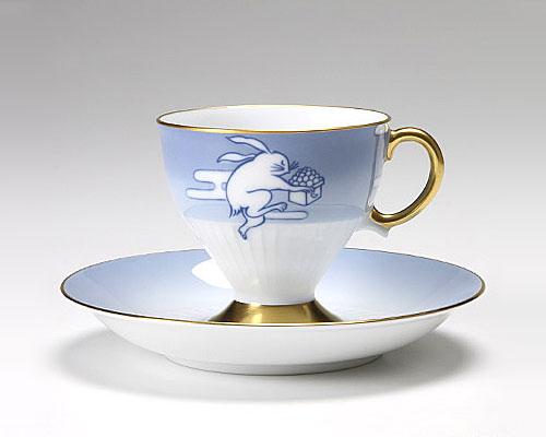 大倉陶園 碗皿ごよみ12ヶ月 月見(長月) カップ&ソーサー