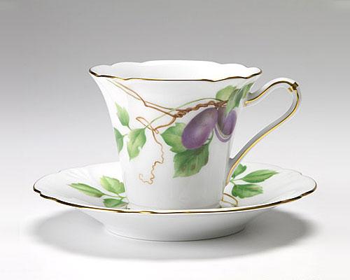 大倉陶園 碗皿ごよみ12ヶ月 あけび(神無月) カップ&ソーサー