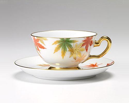 大倉陶園 碗皿ごよみ12ヶ月 紅葉(霜月) カップ&ソーサー