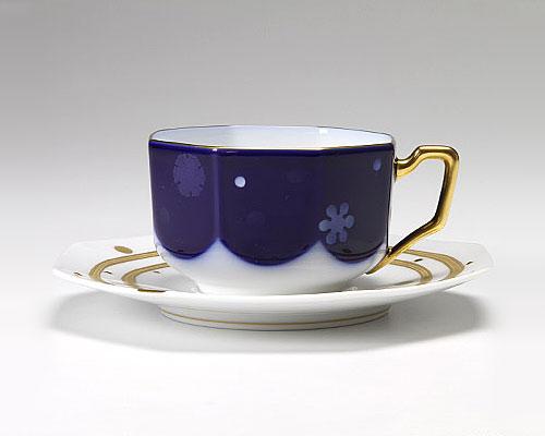 大倉陶園 碗皿ごよみ12ヶ月 雪(師走) カップ&ソーサー