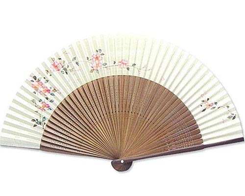 高級扇子(桐箱入) 「大短地手描き絵/桜」