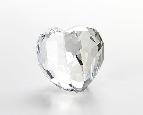 スワロフスキー Love Heart Crystal Silver Shade(M)