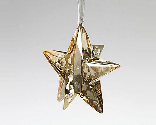 スワロフスキー クリスマスオーナメント スター Crystal Golden Shadow