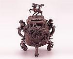 高岡銅器 銅製 香炉 麟龍 大 二上元威