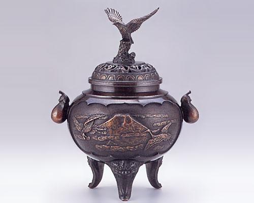 高岡銅器 銅製 香炉 夢