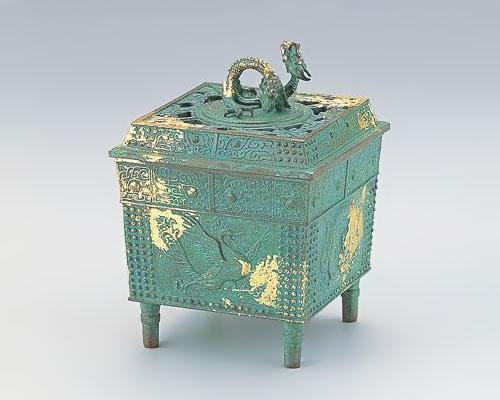 高岡銅器 銅製 香炉 四神獣香炉