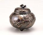 高岡銅器 銅製 龍田川香炉 古手色