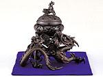 高岡銅器 銅製 香炉 吉祥龍