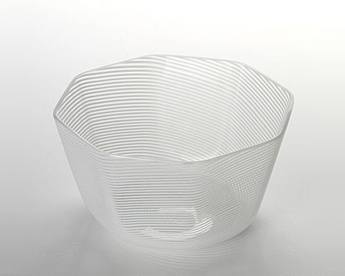 ベネチアガラス バラリン ボウル(ホワイト八角)