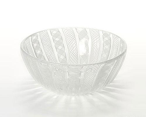 ベネチアガラス バラリン ボウル 15cm ホワイト