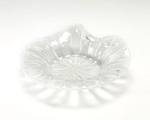ベネチアガラス バラリン プレート シェル ホワイトレース