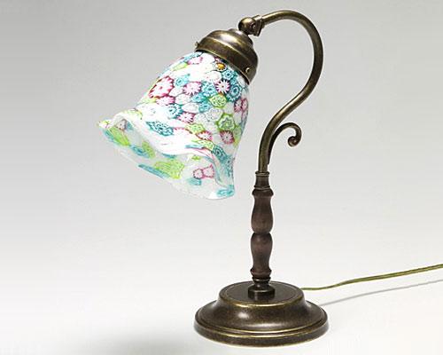 ベネチアガラス ムリーナ グリーン ランプ