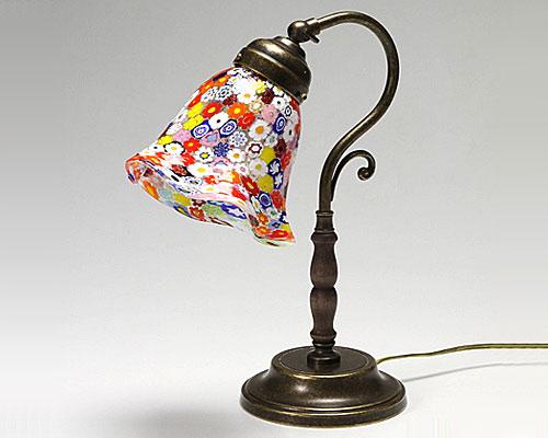ベネチアガラス ムリーナ パステル多彩 ランプ